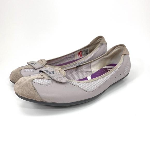 PUMA Eco Ortholite Leather Ballet Flats Loafers